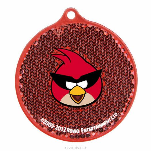 """Светоотражатель пешеходный """"Angry Birds. Space"""", цвет: красный"""