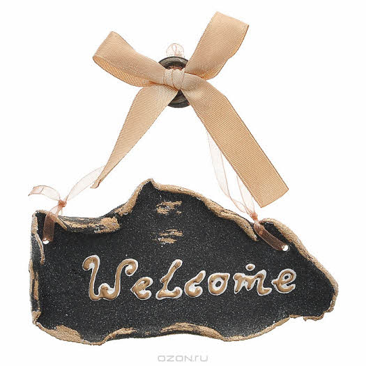 "Магнит-подвеска ""Welcome"". Ручная авторская работа. 12313-t-darya.85.90"