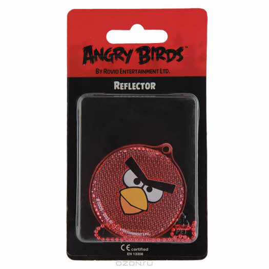 """Светоотражатель пешеходный """"Angry Birds"""", цвет: красный"""