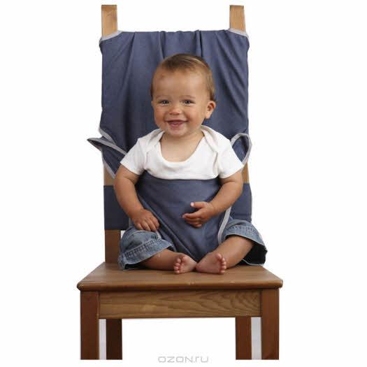"""Дорожный детский стульчик """"Totseat"""", цвет: сине-серый"""