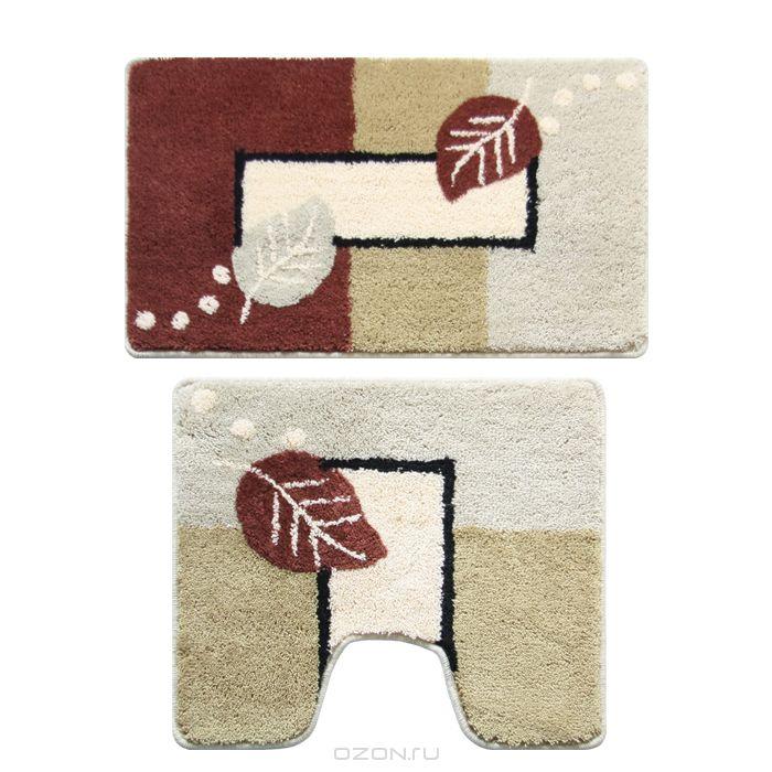 """Набор ковриков для ванной комнаты Milardo """"Late Autumn"""", 2 шт"""