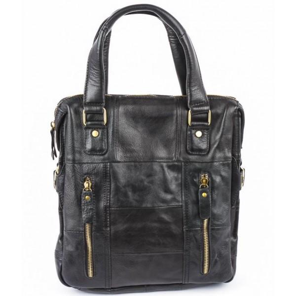 Кожаная мужская сумка 6312_black Pola