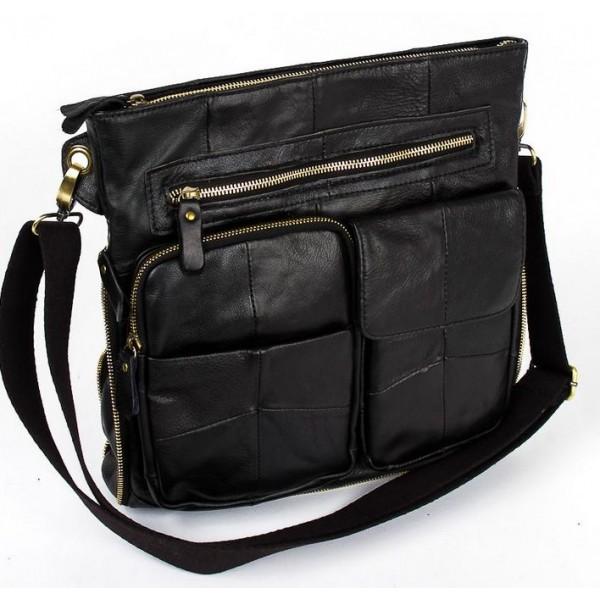 Мужская кожаная сумка планшет 1076_black от Pola
