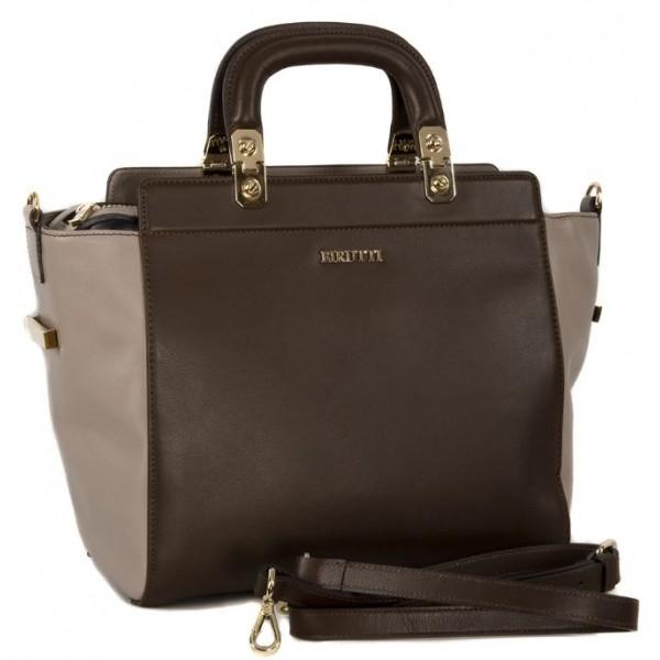 Стильная женская сумка ab123_coffee Alessandro Birutti