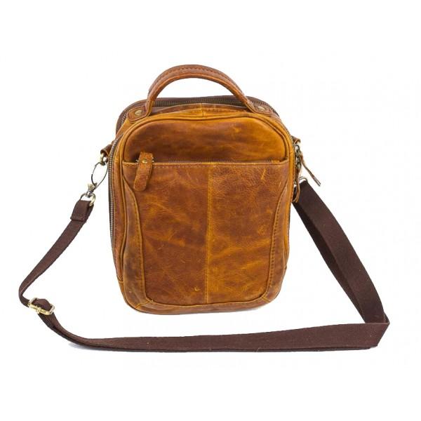 Кожаная мужская сумка для документов 3281_brown Pola