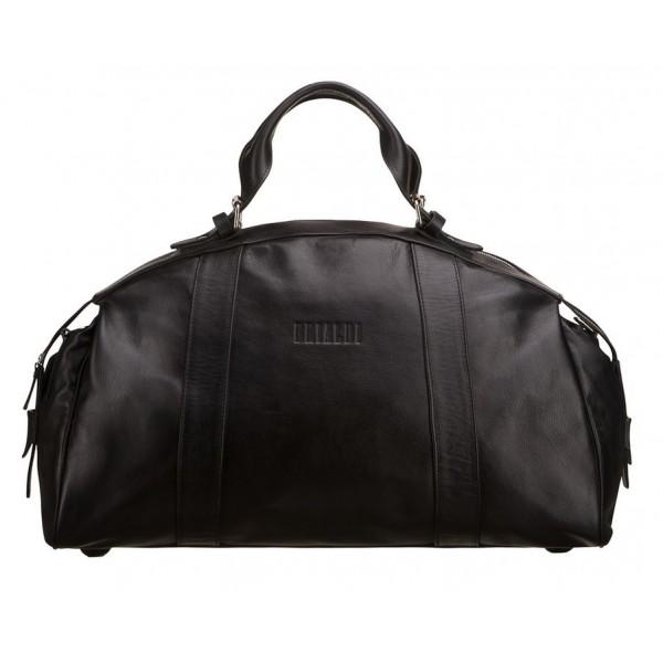 Кожаная мужская дорожная сумка br036_black Brialdi