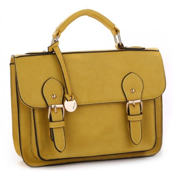 Стильный женский портфель 7101_yellow Pola