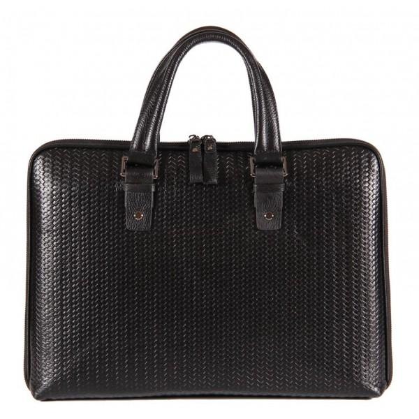 Кожаная мужская сумка sbm008_black Sabellino