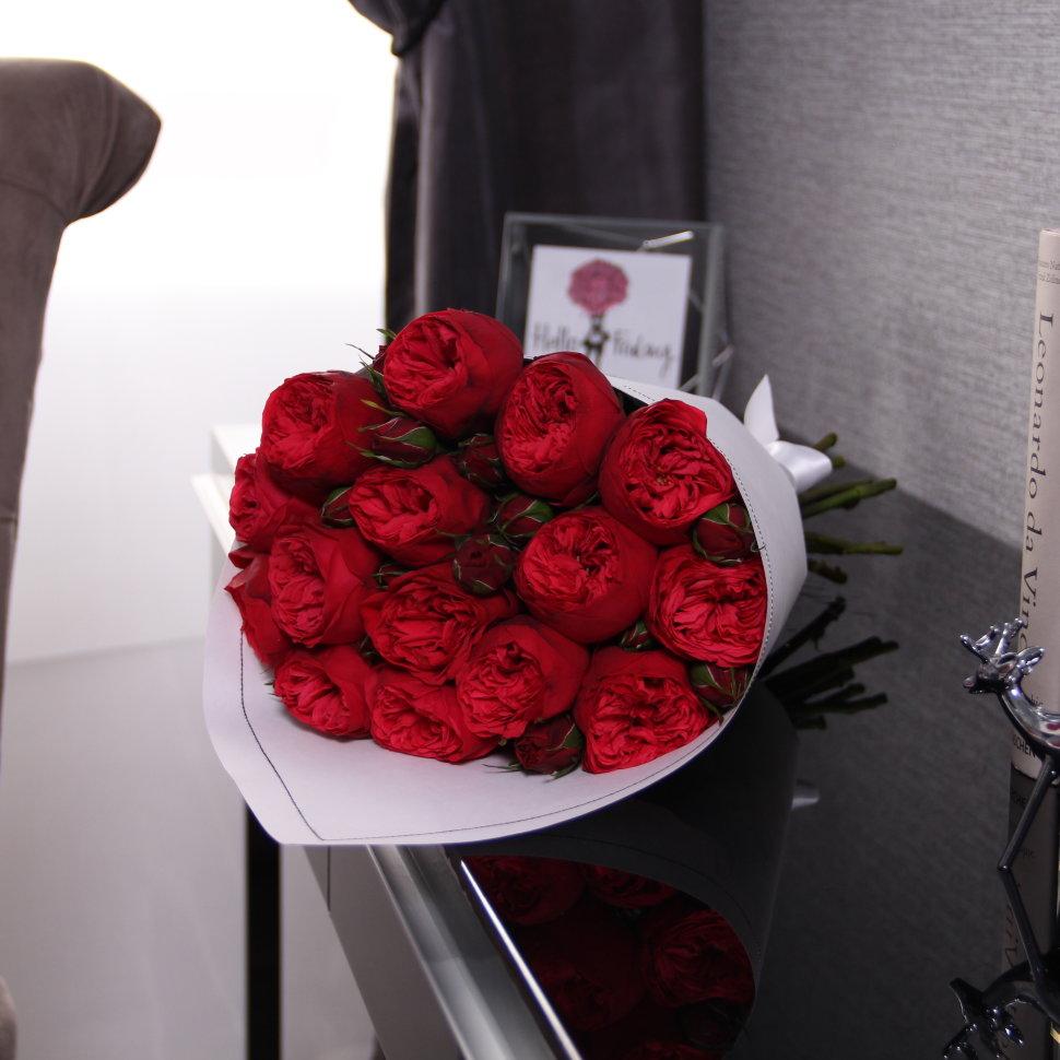 "Букет из 15 роз ""Red Piano"" WHITE FloraDelivery"