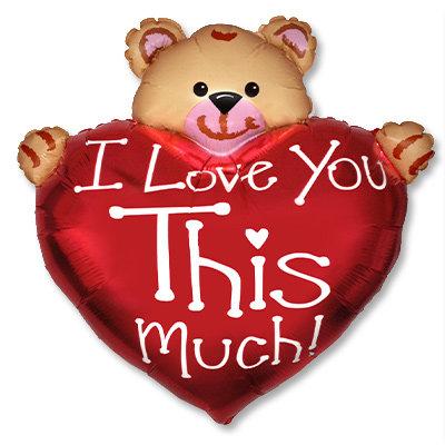 "Воздушный шар ""I LOVE YOU"" (6) FloraDelivery"