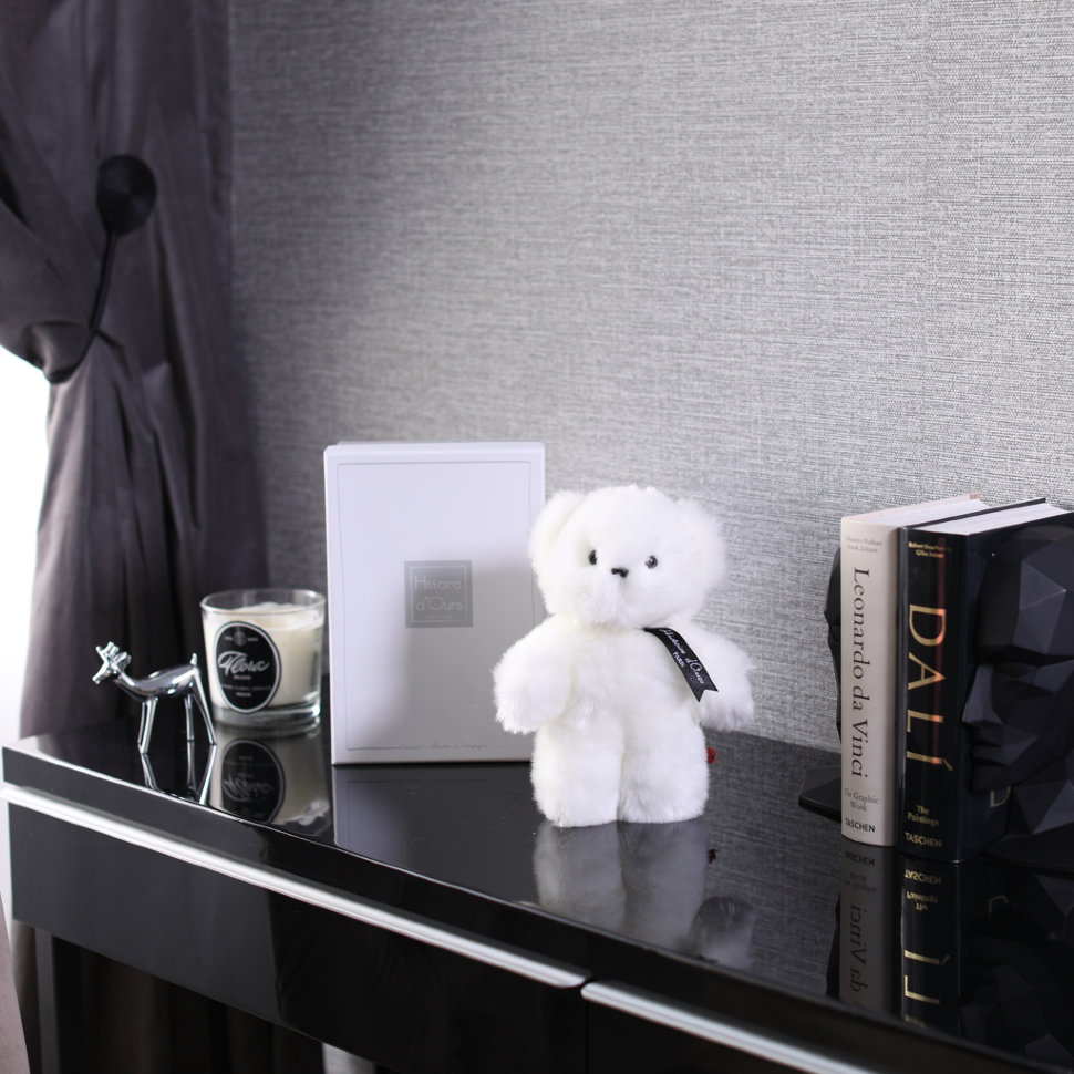 MINI BABY WHITE BEAR (Histoire d'Ours) FloraDelivery