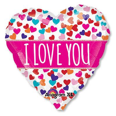 "Воздушный шар ""I LOVE YOU"" (7) FloraDelivery"