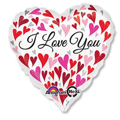"Воздушный шар ""I LOVE YOU"" (4) FloraDelivery"