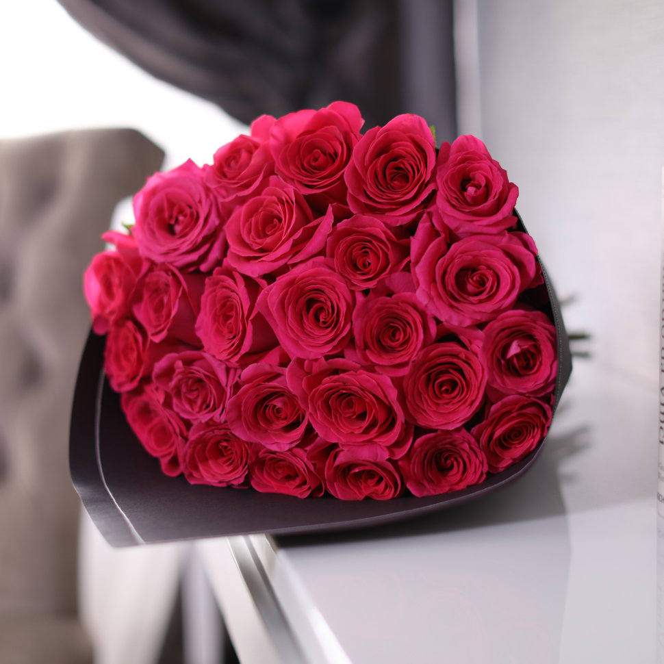 "Букет из 25 роз ""Pink Floyd"" BLVCK FloraDelivery"