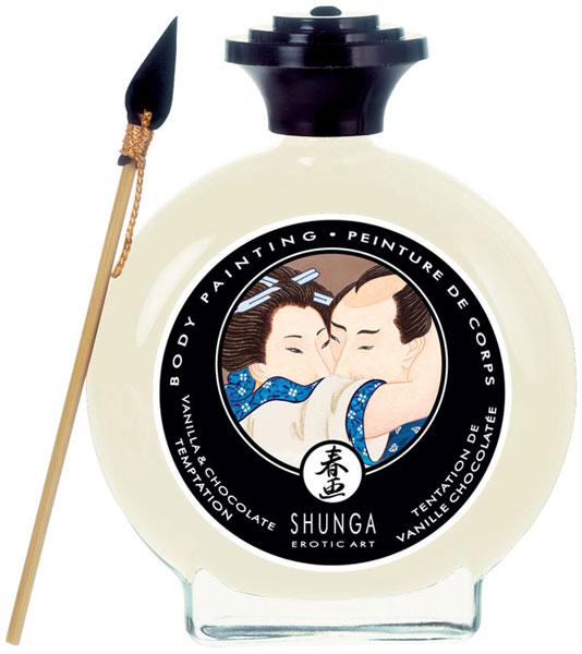 Декоративная крем-краска для тела с ароматом шоколада и ванили Shunga 7001