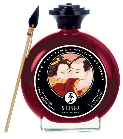 Декоративная крем-краска для тела с ароматом шампанского и клубники Shunga 7002