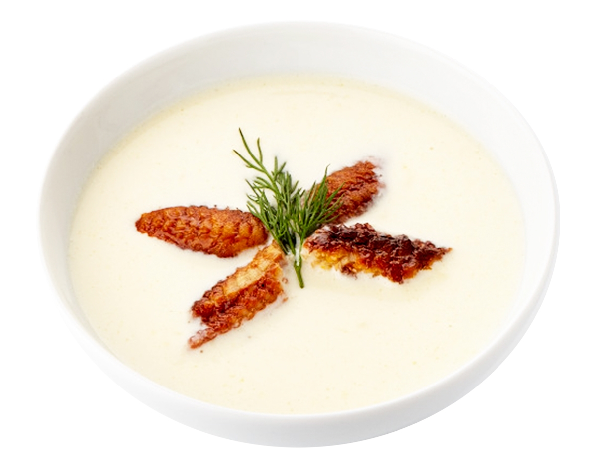 Сырный суп с угрем