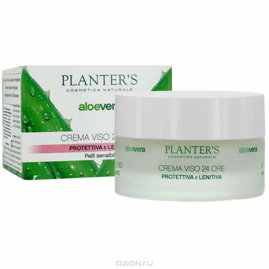 """Крем для лица Planter's """"Aloe Vera"""", защитный, успокаивающий, для сухой и чувствительной кожи, 24 часового действия, 50 мл"""