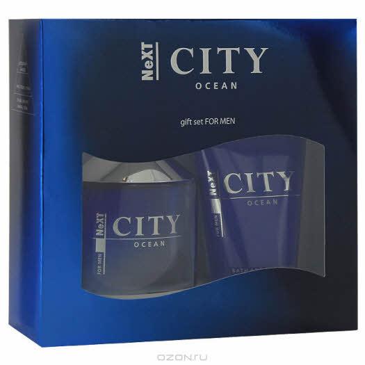 "City Next Набор ""Ocean"": туалетная вода, 100 мл, гель для душа, 125 мл"