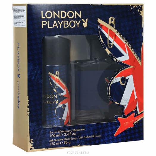 """купить в интернет магазине: Playboy Набор """"London"""": туалетная вода, дезодорант-спрей"""