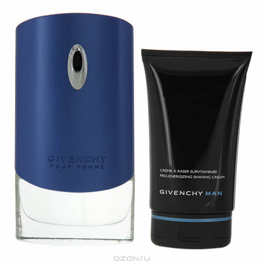 "Givenchy Набор ""Pour Homme Blue Label"": туалетная вода, крем для бритья"