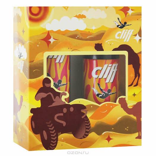 """Cliff Подарочный набор """"Энергия гипноза"""": шампунь-гель для душа, дезодорант для тела"""