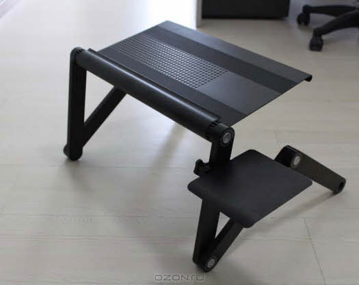 """Площадка для столиков """"ASX"""" под компьютерную мышь, цвет: черный"""