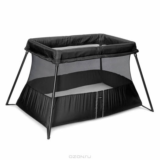 """Манеж-кровать """"BabyBjorn"""", складной, цвет: черный"""