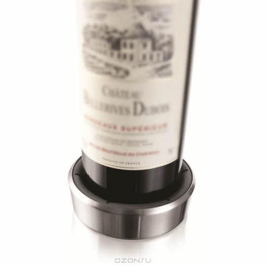 """Подставка """"VacuVin"""" для сервировки бутылки, цвет: металлик, 0,75 л"""