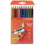 """Набор цветных карандашей """"Stabilo (Штабило) Trio"""", 12 цветов"""