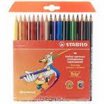 """Набор цветных карандашей """"Stabilo (Штабило) Trio"""", 18 цветов"""