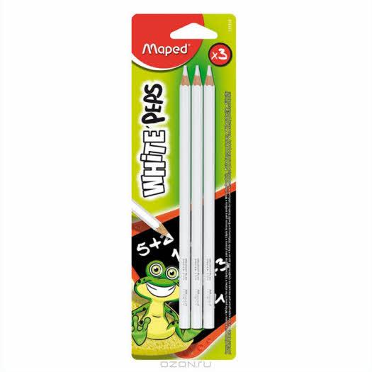 "Набор меловых карандашей ""Maped"", 3 шт"
