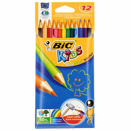 """Цветные карандаши Biс """"Эволюшен"""", 12 цветов"""