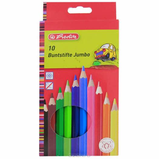 "Цветные карандаши ""Jumbo"", 10 цветов"