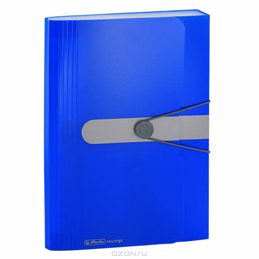 """Папка """"Herlitz"""", 12 отделений, на резинке, цвет: синий"""
