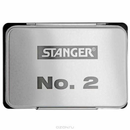 """Штемпельная подушка """"Stanger"""", цвет: черный, 11 см x 7 см"""