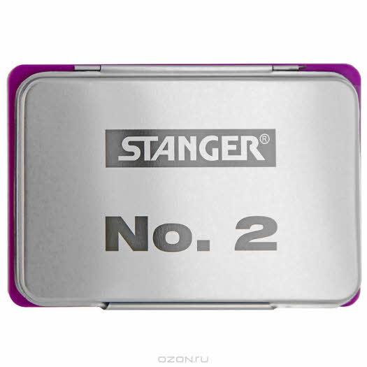 """Штемпельная подушка """"Stanger"""", цвет: фиолетовый, 11 см x 7 см"""