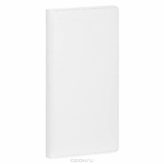 """Ежедневник полудатированный """"Вояж"""", обложка: Софт, цвет: белый"""