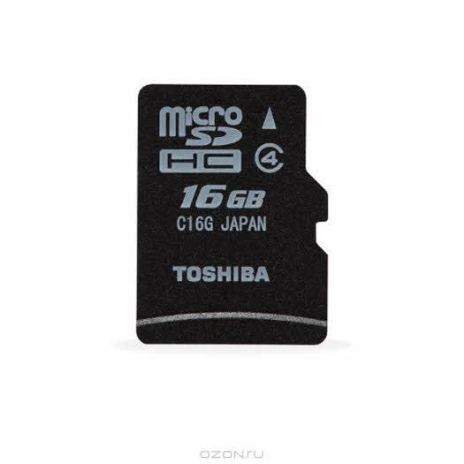 Toshiba microSDHC class 4 16GB (SD-C16GJ(BL5)