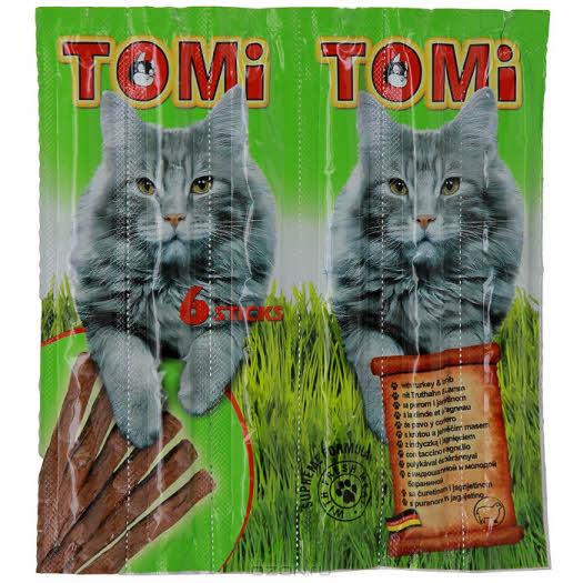 """Палочки """"Tomi"""" для кошек, с индюшатиной и молодой бараниной, 6 х 5 г"""