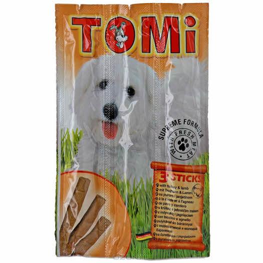"""Палочки """"Tomi"""" для собак, с индюшатиной и молодой бараниной, 3 х 10 г"""