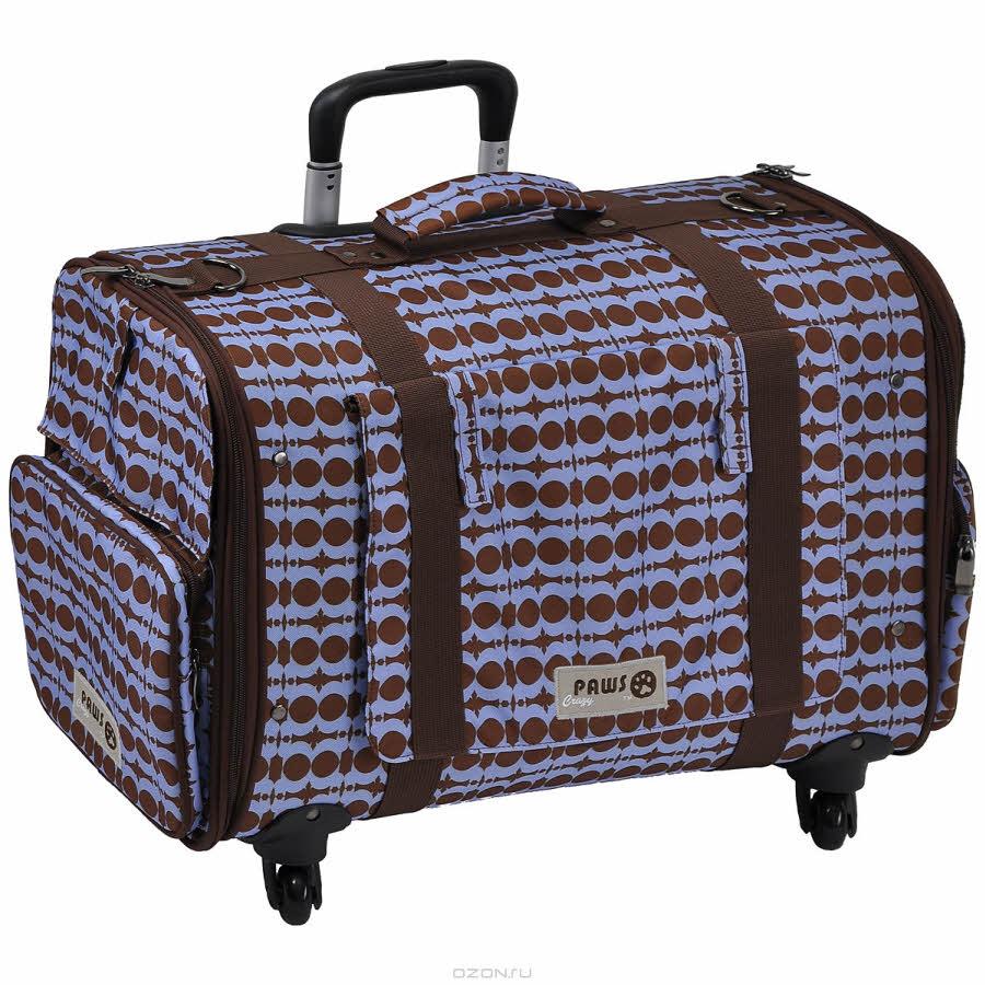 """Перевозка для животных Crazy Paws """"4 Wheel Mobile"""", цвет: голубой, коричневый. Размер Large"""
