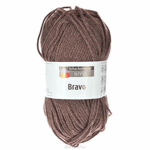 """Пряжа для вязания """"Bravo"""", цвет: коричневый (08197), 133 м, 50 г"""