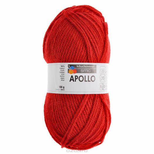 """Пряжа для вязания """"Apollo"""", цвет: красный (00032), 200 м, 100 г"""