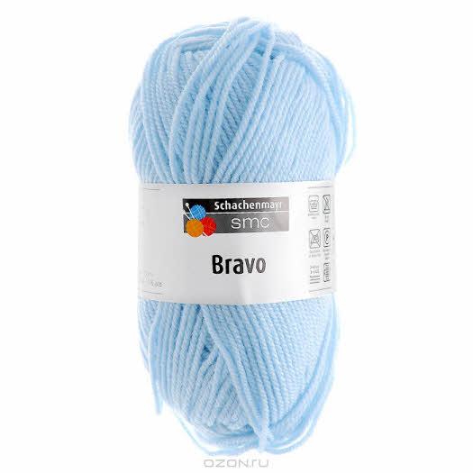 "Пряжа для вязания ""Bravo"", цвет: бело-серо-голубой (08302), 133 м, 50 г"