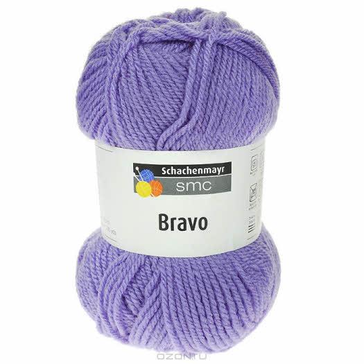 """Пряжа для вязания """"Bravo"""", цвет: лиловый (08306), 133 м, 50 г"""