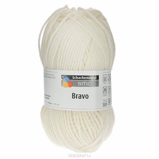 """Пряжа для вязания """"Bravo"""", цвет: кремовый (08200), 133 м, 50 г"""