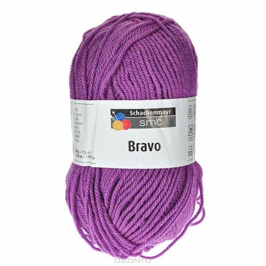 """Пряжа для вязания """"Bravo"""", цвет: лиловый (08307), 133 м, 50 г"""