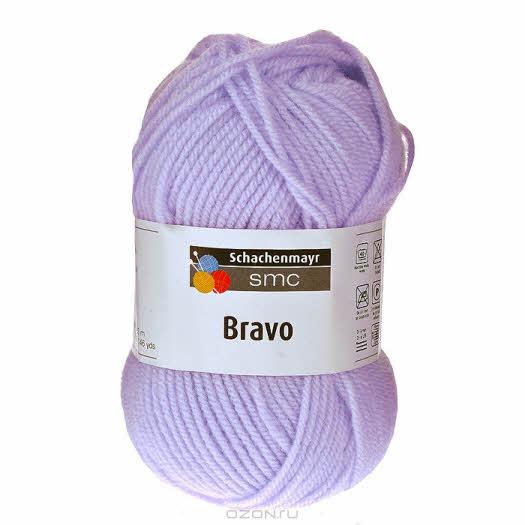 """Пряжа для вязания """"Bravo"""", цвет: фиолетовый (08190), 133 м, 50 г"""