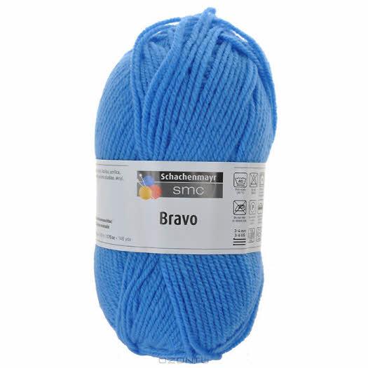 """Пряжа для вязания """"Bravo"""", цвет: синий (08259), 133 м, 50 г"""